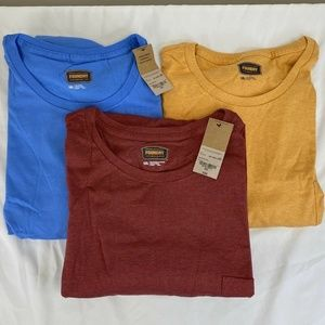 The Foundry Lot Of 3 T Shirts Red Blue Yellow Mens
